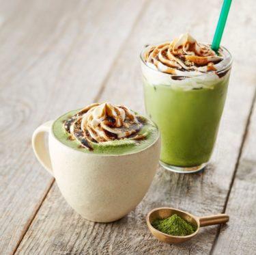 "【TULLY'S COFFEE】Uji Matcha green tea ""Kuromitsu (Brown sugar syrup) Kinako Matcha Latte"" will be on sale from December 26th."