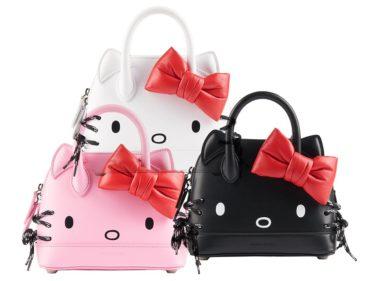 """【Worldwide】Balenciaga's """"Hello Kitty"""" face motif """"Ville"""" bag will be sold!"""