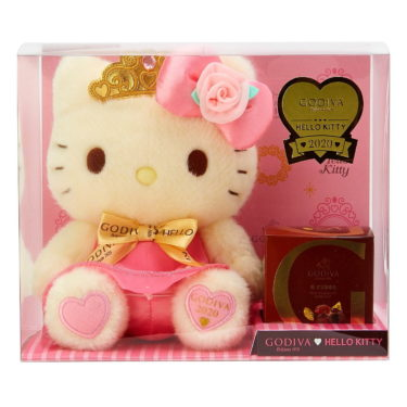 "【GODIVA×Sanrio】Godiva collaborates with Hello Kitty & My Melody! ""Princess-style"" plush toys and chocolate Valentine's gifts will appear."