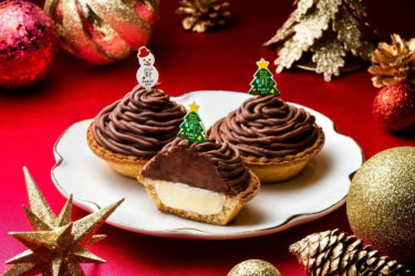 """【Nationwide】 Freshly baked cheese tart specialty store """"PABLO"""" is now offering Pablo Mini """"High Cacao Mont Blanc""""."""